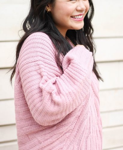 The Coziest Pink Sweater - TheBellaInsider.com