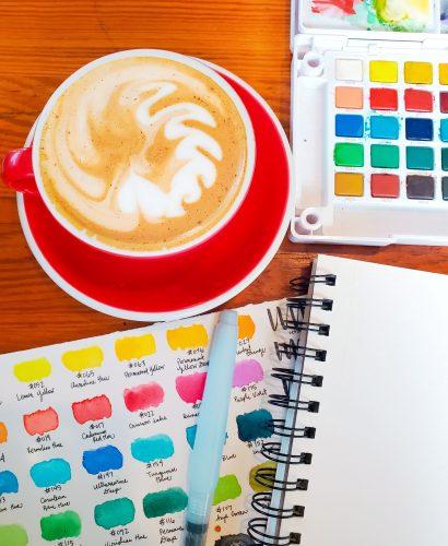 Watercolor Art Journal Supplies - TheBellaInsider.com