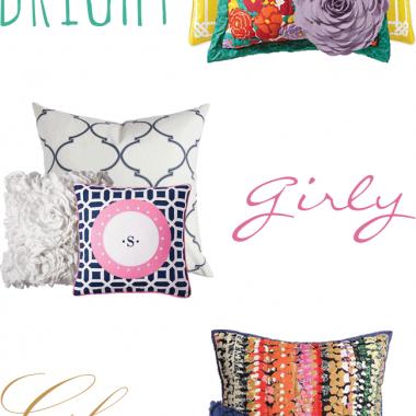 Dorm Decor: Pillows