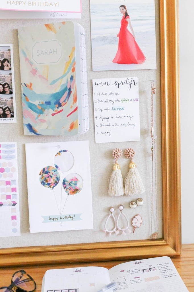 How to Decorate a Pinboard - TheBellaInsider.com