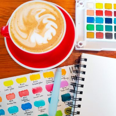 Watercolor Art Journal Supplies - TheBellaInsider.com