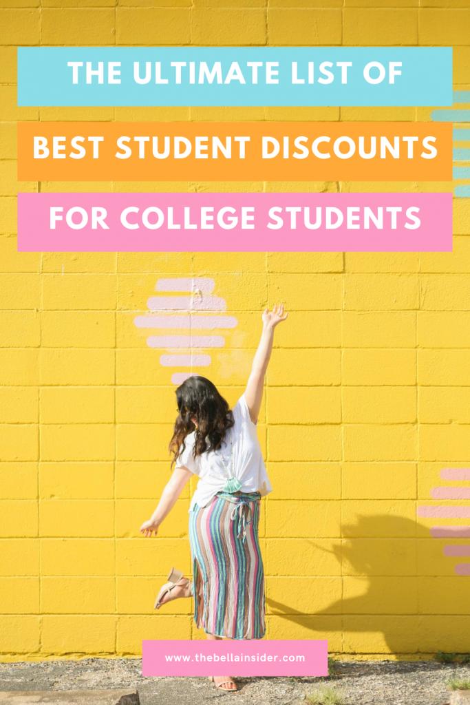 Best Student Discounts List - TheBellaInsider.com