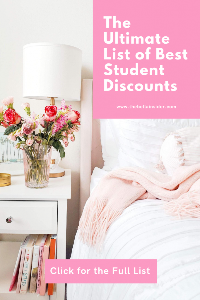 Ultimate List of Best Student Discounts - TheBellaInsider.com