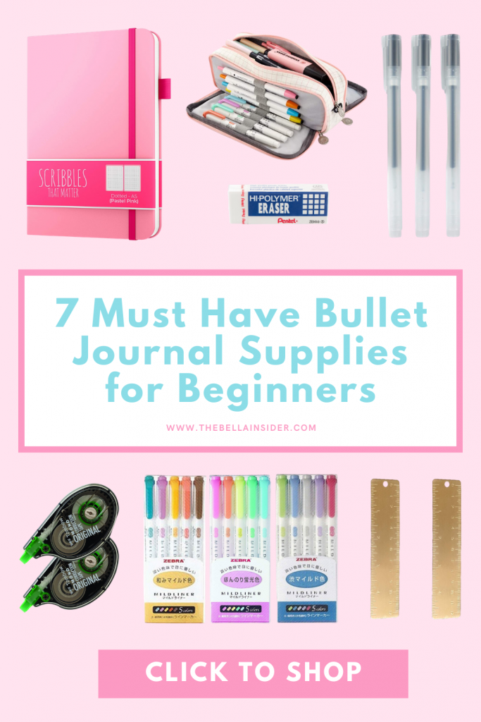 7 Must Have Bullet Journal Supplies for Beginners - TheBellaInsider.com