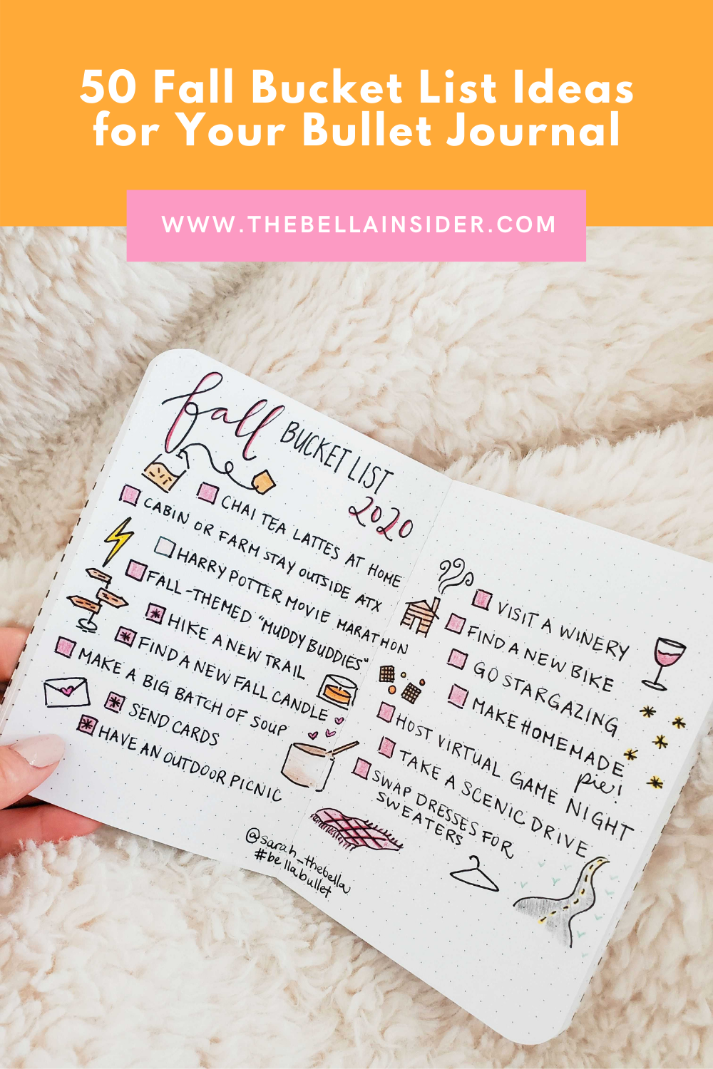 50 Fall Bucket List Ideas for Your Bullet Journal - TheBellaInsider.com