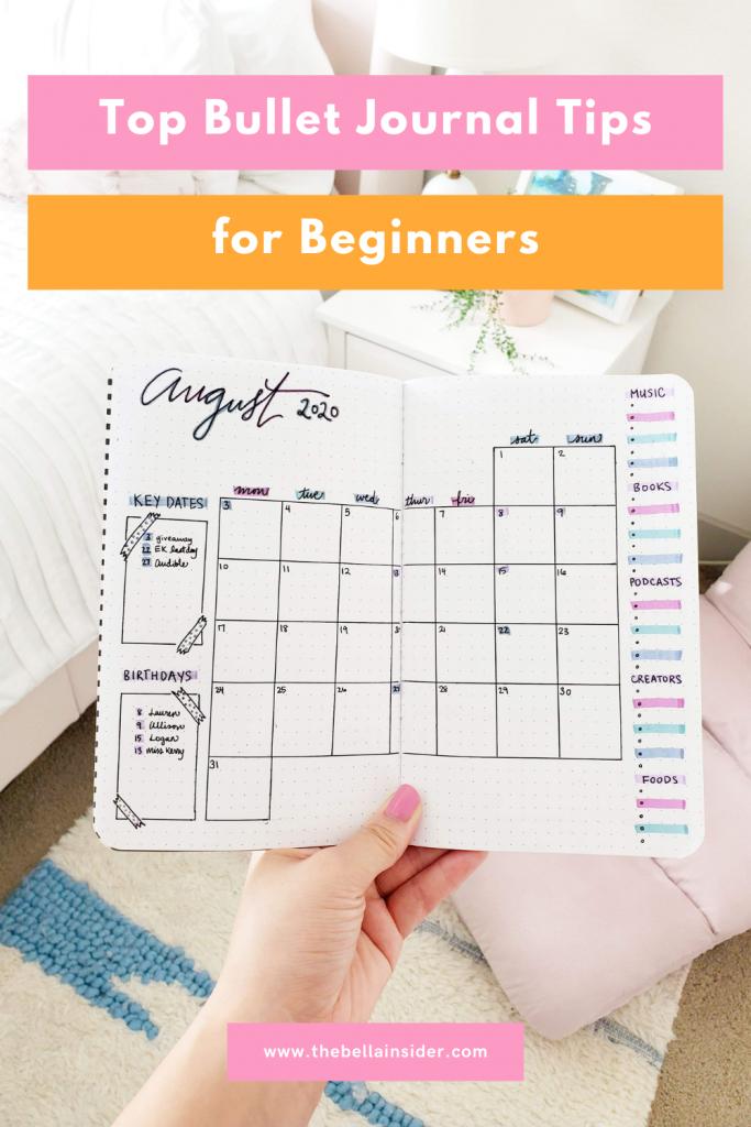 Bullet Journal Tips for Beginners - TheBellaInsider.com