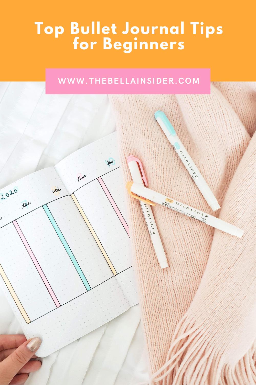 Top Bullet Journal Tips for Beginners - TheBellaInsider.com