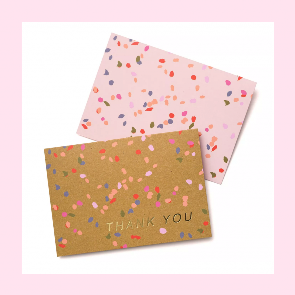 Confetti Thank You Cards from Target | TheBellaInsider.com